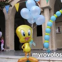 Διακόσμηση με μπαλόνια για βάπτιση